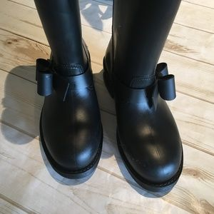 RED Valentino Side-Bow Rain Boots